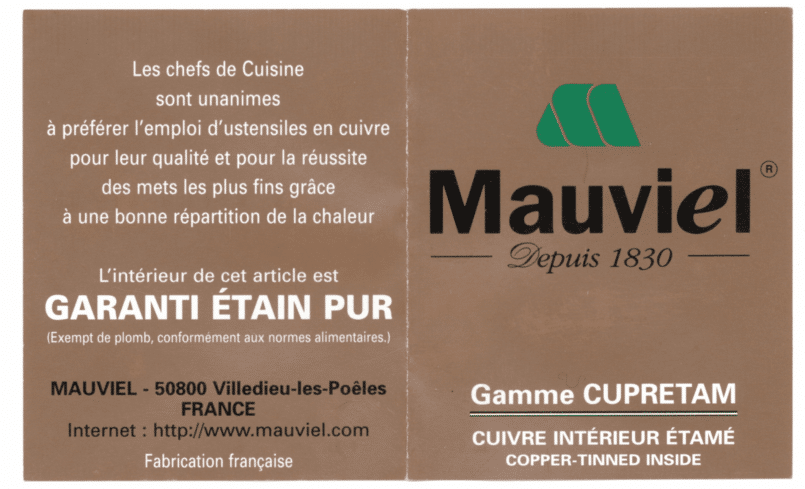Field guide to Mauviel