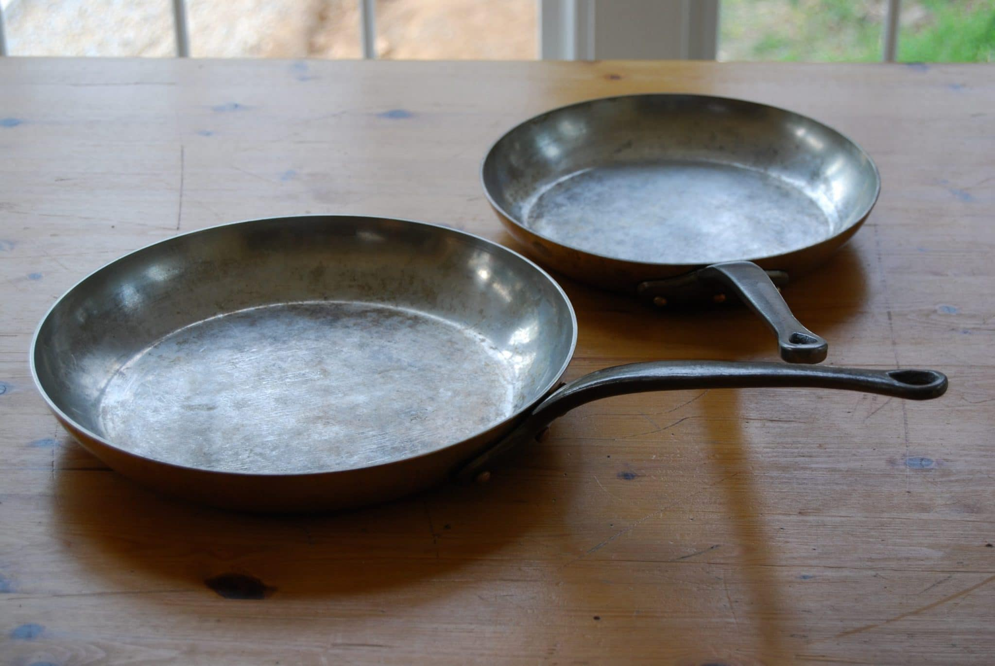 26cm and 31cm Mauviel skillets