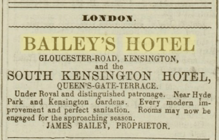 """36cm rondeaux """"Omnium Hotelier"""" and """"The Bailey's Hotel"""""""
