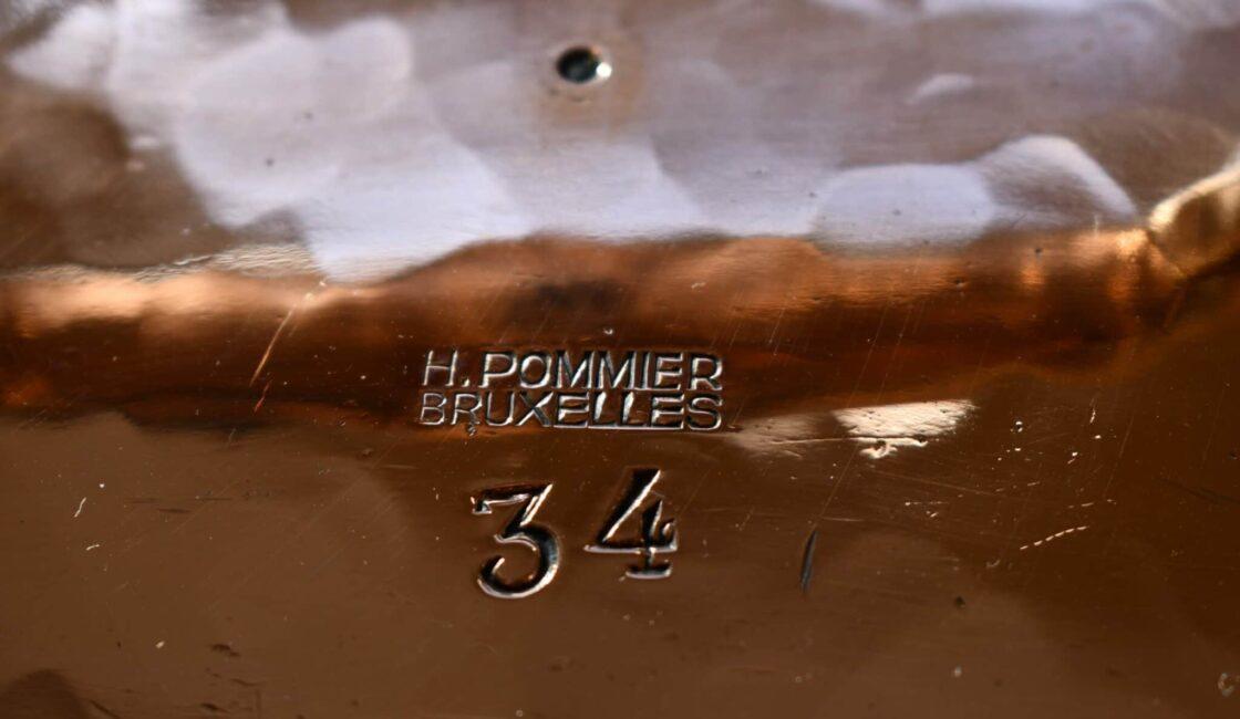 "34cm H. Pommier stewpot, ""ML"""